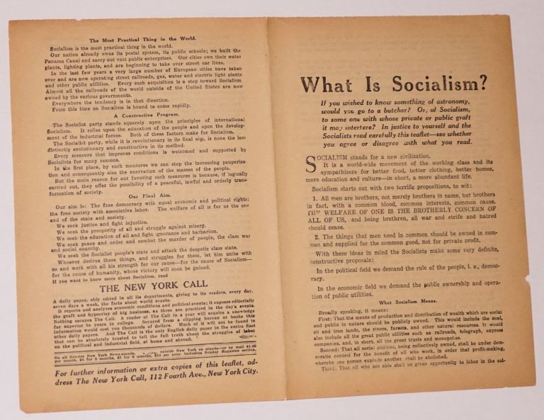 What is socialism? New York Call.