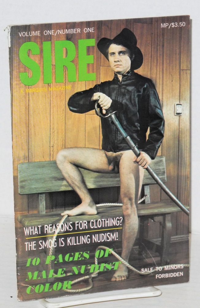 Sire: a Marquis magazine, volume one/number one, September 1968. Abe Richards.