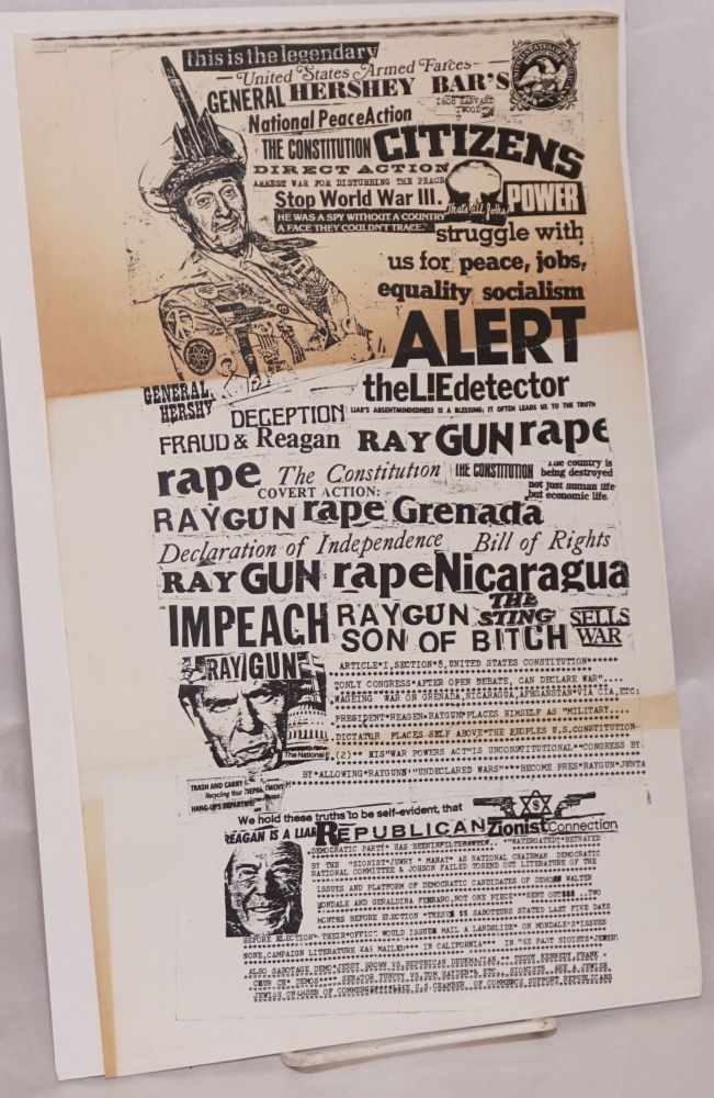 United States Armed Farces, Gen Hershey Bar's dubious acheivement award... a liar son of a bitch incredible President Reagan is Raygun is preying on the Consitution. General Hershey Bar, aka Calypso Joe.