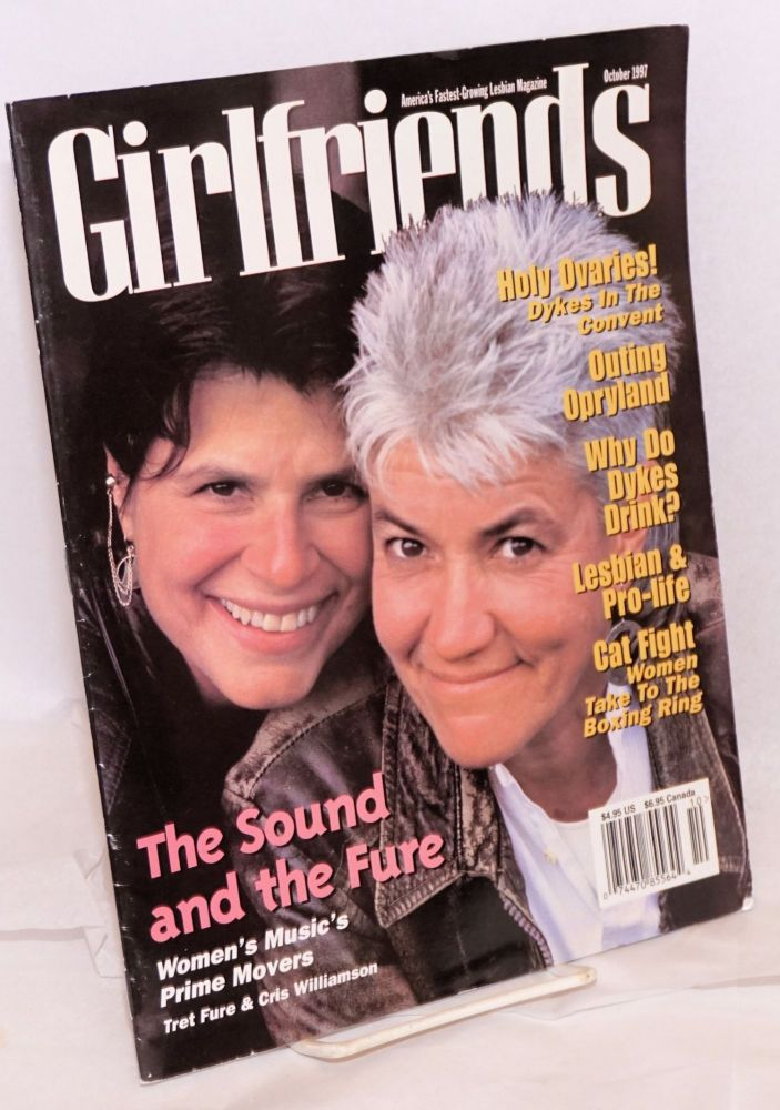 Girlfriends: vol. 4 issue 6, October 1997. Heather Findlay, , Cris Williamson, Rundu Staggers, Paula Murphy, Tret Fure.