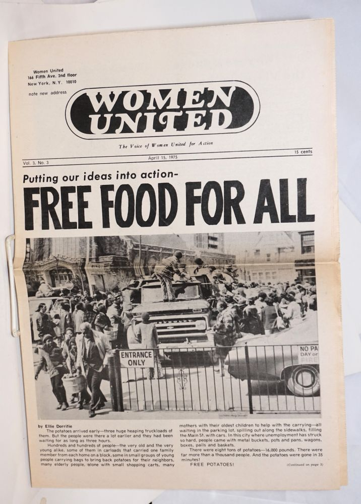 Women United: the voice of Women United for Action. Vol. 3 no. 3 (April 15, 1975)