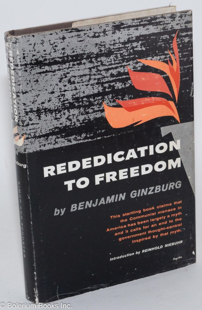 Rededication to freedom. Benjamin Ginzburg.