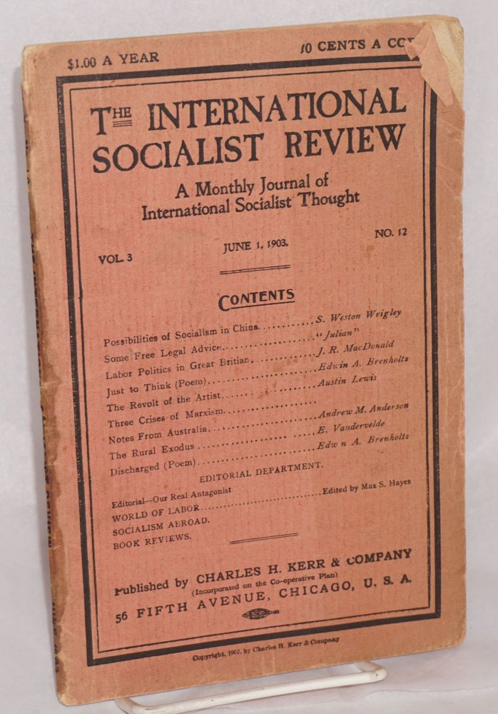 The international socialist review, June 1, 1903. Vol. 3, no. 12. Charles H. Kerr, ed.