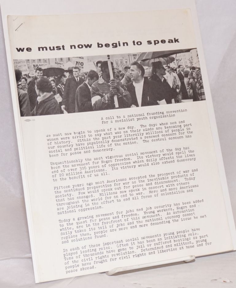 We must now begin to speak: A call to a national founding convention for a socialist youth organization