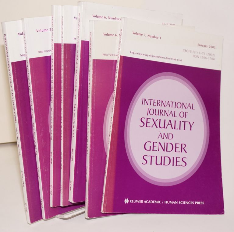 International journal of sexuality and gender studies: volume 5, number 1, January 2000 - volume 7, number 1, January 2002 [broken run]. Warren. J. Blumenfeld.