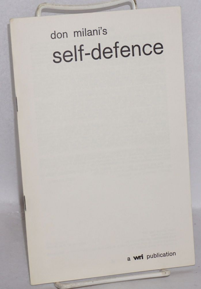 Don Milani's self-defence. Introduction by Devi Prasad, foreword by T.D. Roberts. Third edition. Don Milani.