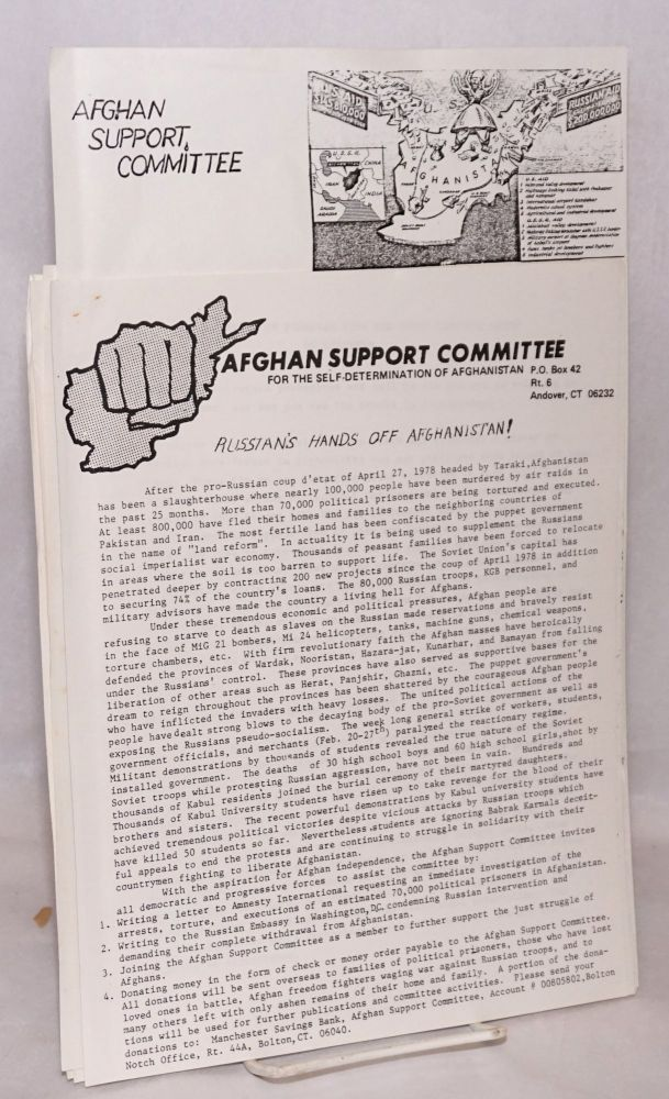[Seven items from the Marxist-Leninist group]. Afghan Support Committee.
