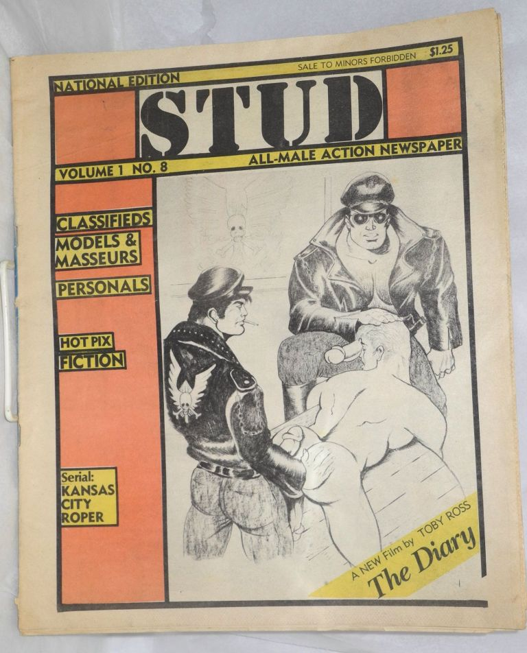 Stud: all-male action newspaper, volume 1, no. 8, national edition. Raymond Anon, , Sean, Dom Orejudos aka Etienne aka Shawn.