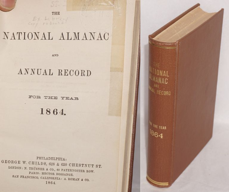 The national almanac and annual record for the year 1864. William V. McKean.