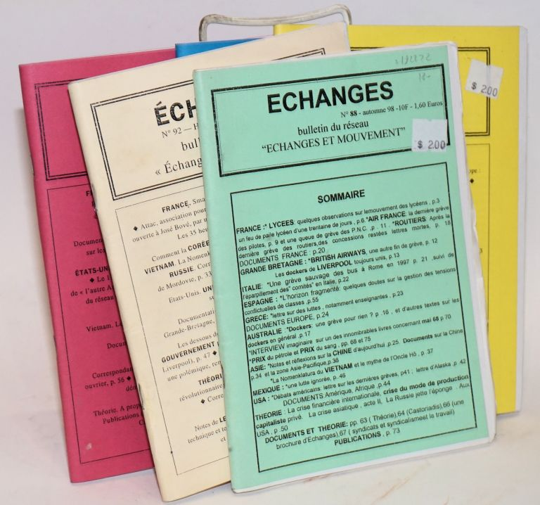 Echanges. [five issues]