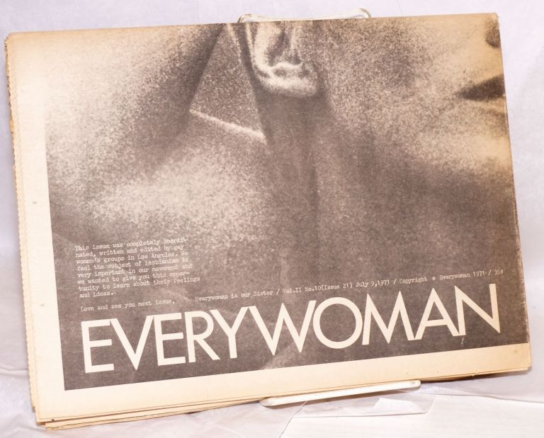 Everywoman vol. 2, no. 10 (issue 21) July 9, 1971 [aka Everywoman is our sister]