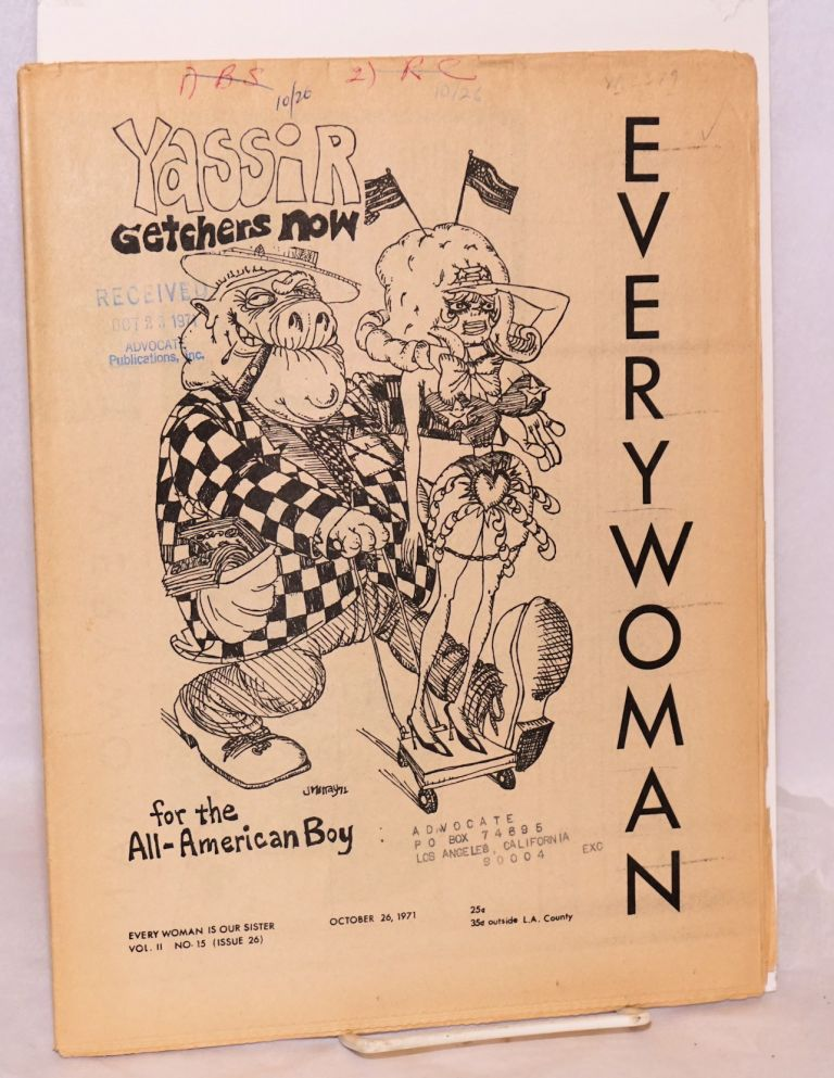 Everywoman [aka Everywoman is our sister] vol. 2, #15 (issue 26) October 26, 1971