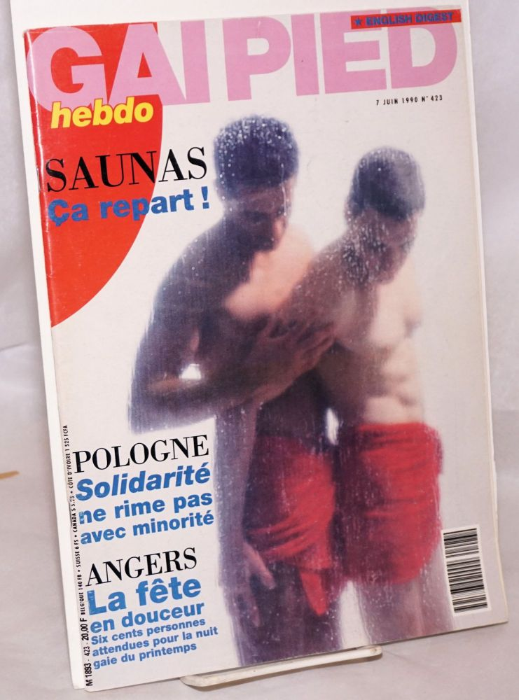 Gai pied hebdo no. 423 du 7 Juin 1990 [with English Digest]. Yves Charfe.