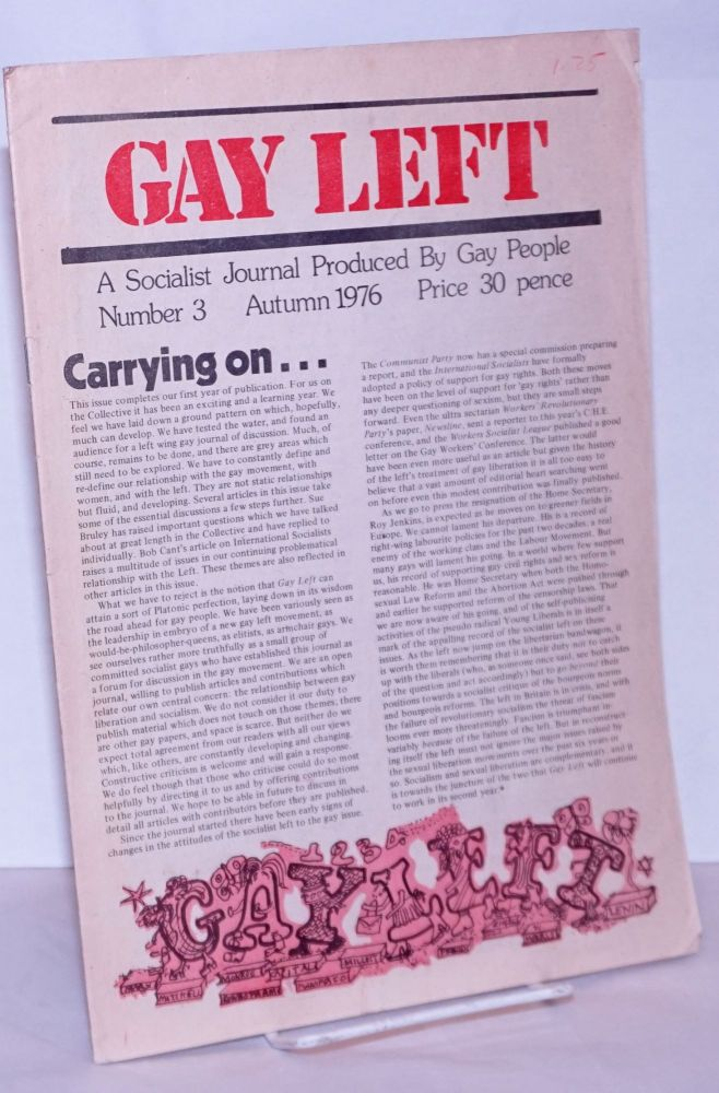 Gay left; a socialist journal produced by gay people, number 3, Autumn 1976