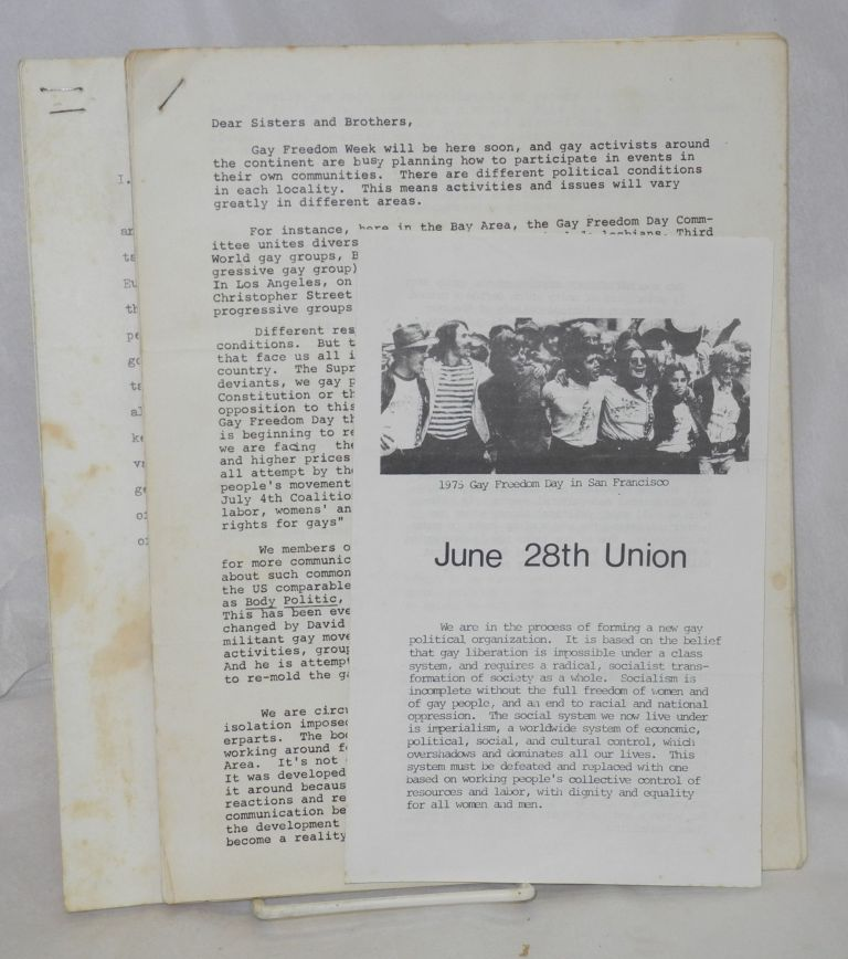 [Three items from the June 28th Union]. June 28th Union.