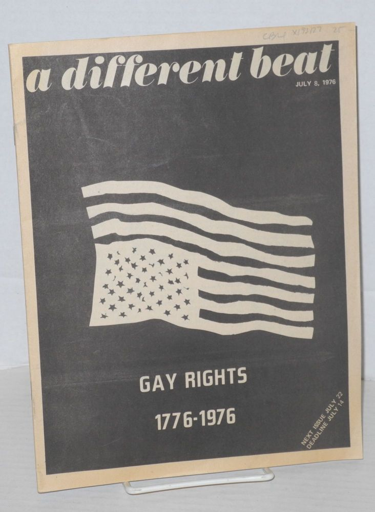 A Different Beat: #3 July 8, 1976; Gay Rights 1776-1976