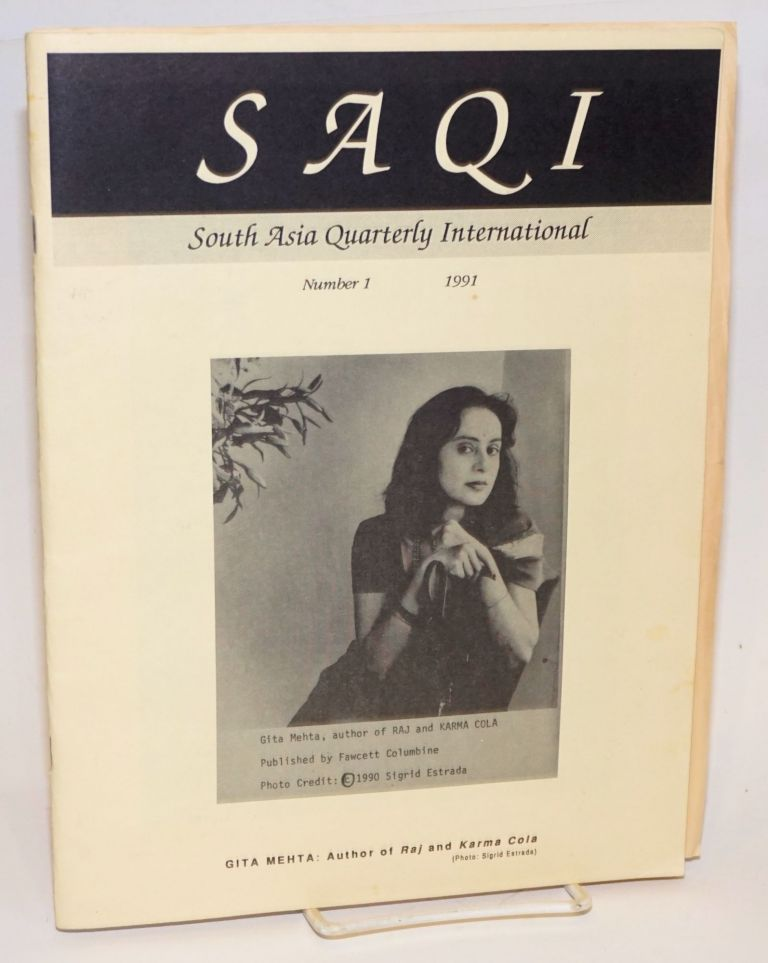 SAQI, South Asia quarterly international. No. 1, 1991. C. J. Wallia.