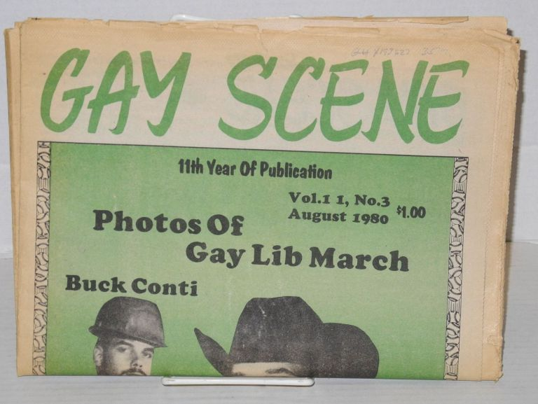 Gay Scene: vol 11, #3, August 1980. Bruce King, aka Avery Willard.