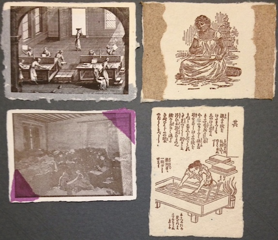 Women and Paper: a postcard collection recounting women's involvement in a variety of trades and crafts in the fabrication of paper. Jocelyn Helaine Cohen.