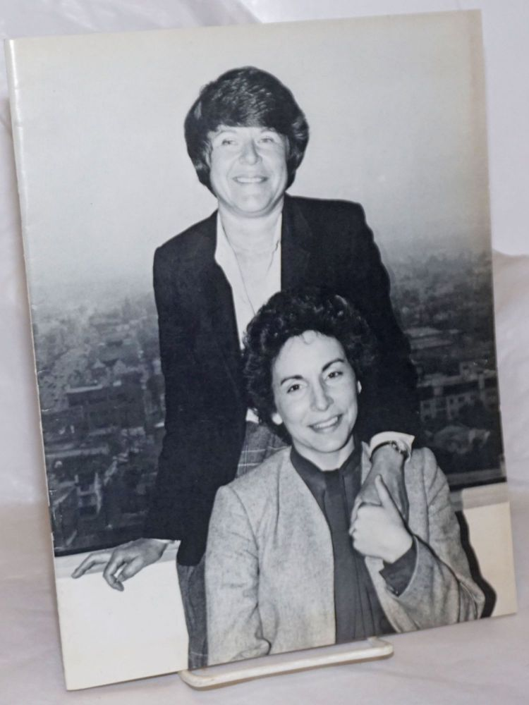 The Third Lesbian Rights Award Banquet 1983 honoring Diane Abbit & Roberta Bennett May 7, 1983, the Park Plaza, Los Angeles. Jeanne Cordova Southern California Women for Understanding.