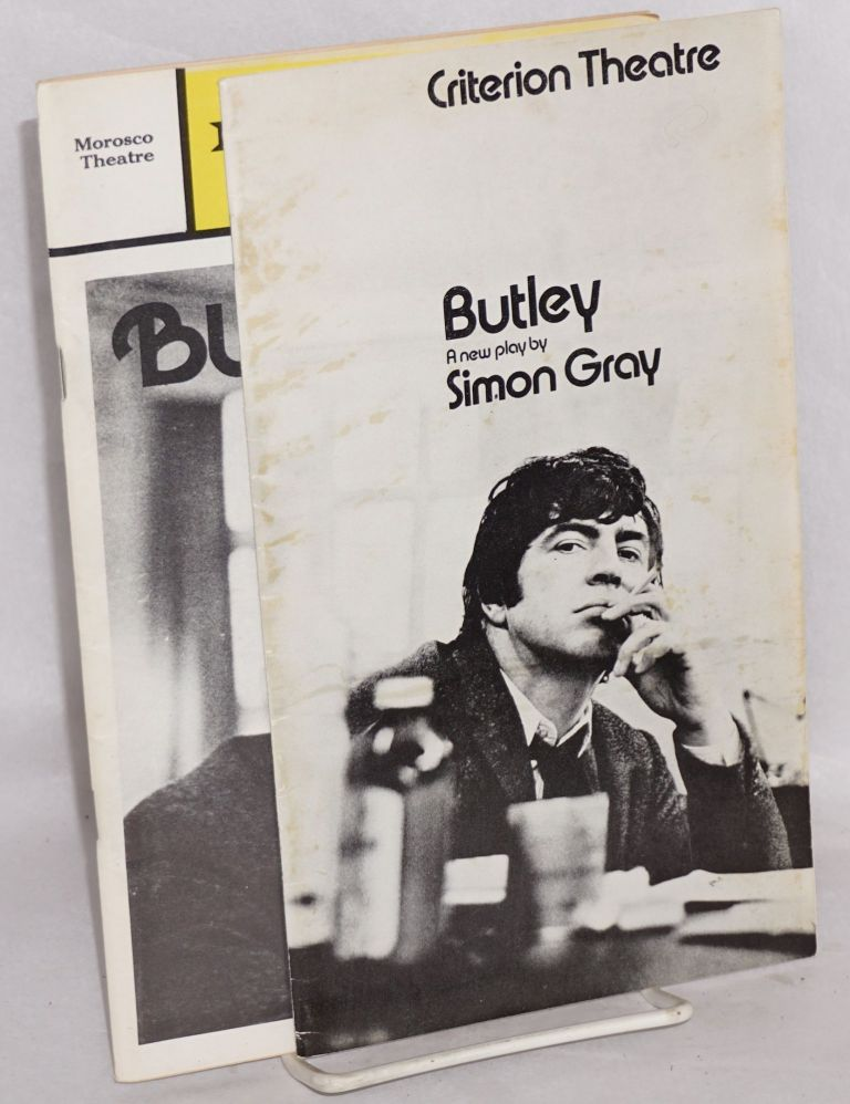 Butley two programs for the original UK and US productions. Simon Gray.