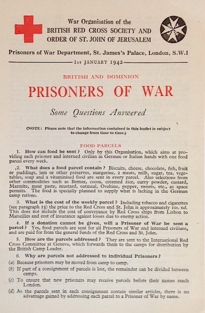 British and dominion prisoners of war: some questions answered. Joint War Committee of the British Red Cross Society, the Order of St. John of Jerusalem in England.