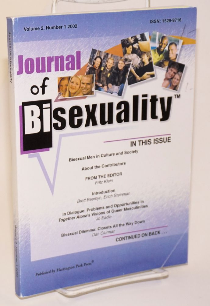 Journal of bisexuality; volume 2, number 1. Fritz Klein.