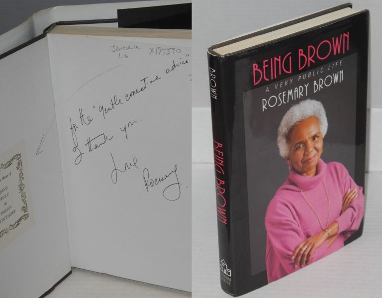 Being Brown; a very public life. Rosemary Brown.