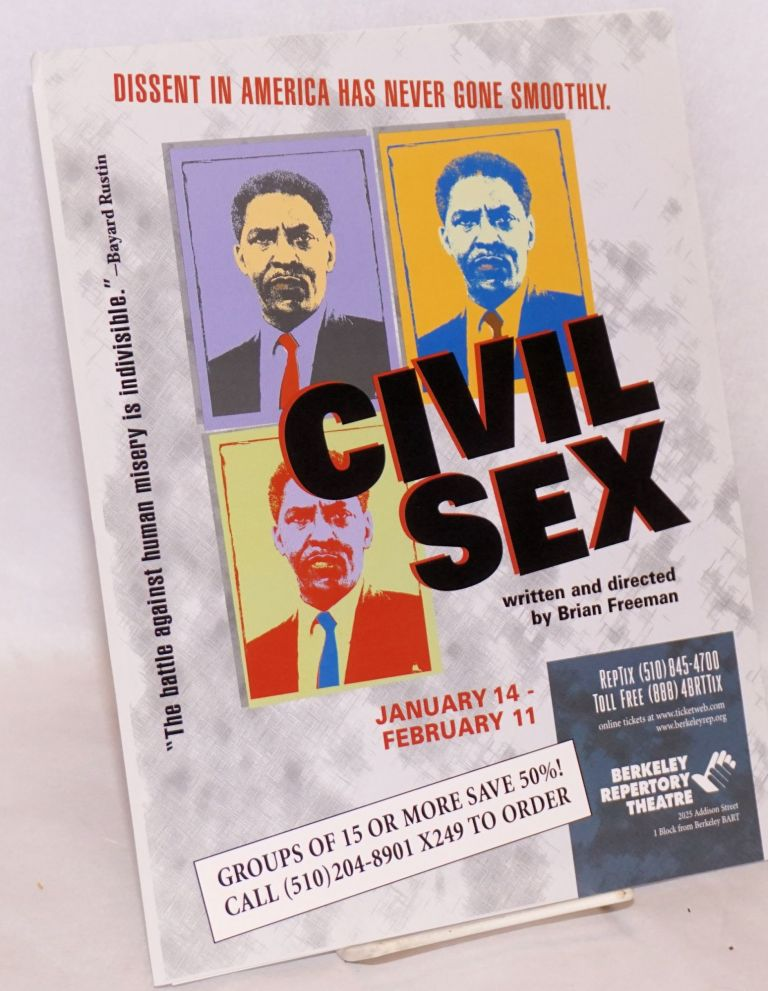 Handbill - Civil Sex; written and directed by Brian Freeman; Berkeley Repertory Theatre, January 14-February 11, 2000. Brian Freeman.