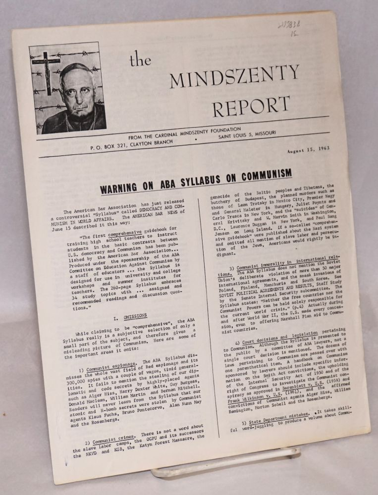 The Mindszenty report. [two issues]