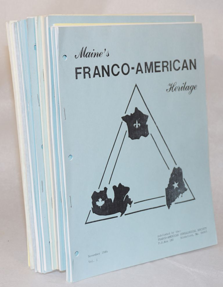 Maine's Franco-American heritage [nos. 1-14]