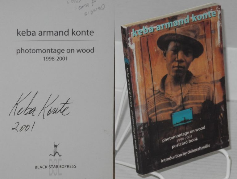 Photomontage on wood 1998-2001 postcard book. Keba Armand Konte, , Deborah Willis.
