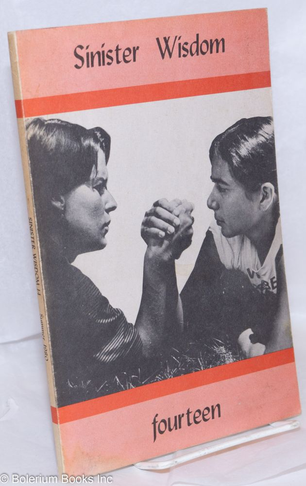 Sinister Wisdom: a journal of words and pictures for the lesbian imagination in all women #14 Summer, 1980. C. Colette, Harriet Desmoines, Joanna Russ Jane Rule, Marion Zimmer Bradley, Barbara Grier.