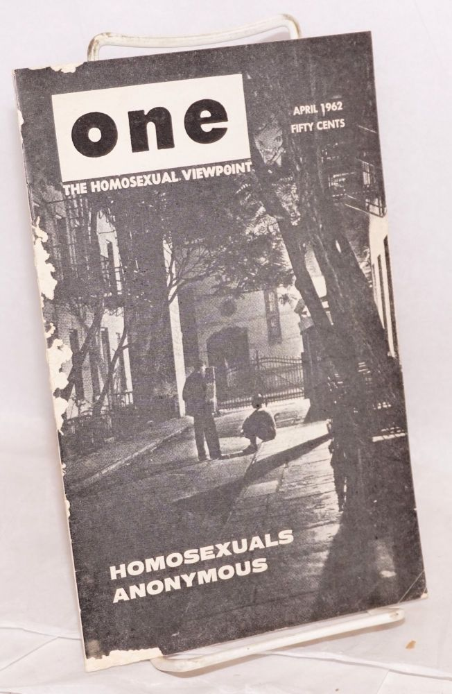 One magazine; the homosexual viewpoint; vol. 10, #4, April 1962. Don Slater, William Lambert, Lyn Pedersen, Ann Bannon.