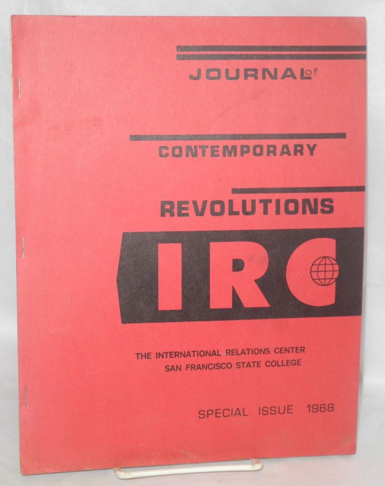 The journal of contemporary revolutions, Special Issue.