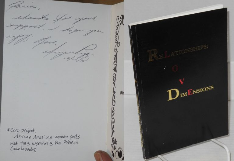 ReLationships O V DimEnsions [Love] a collection of poetic literations. Brenda S. Lattimore, Gwen Roberts, Denyse Pigg.