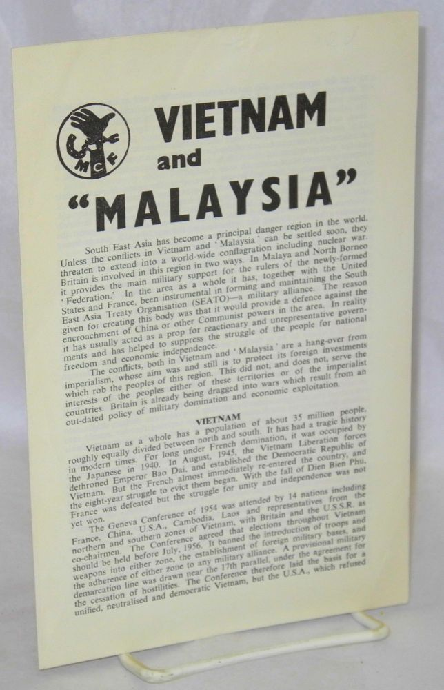 "Vietnam and ""Malaysia"" Movement for Colonial Freedom."