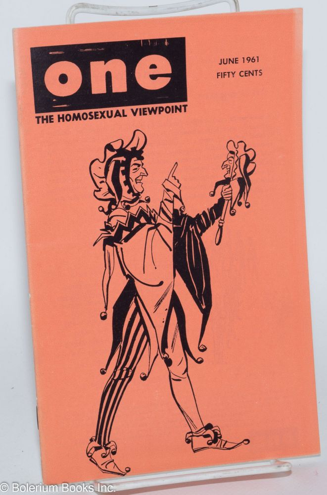 One magazine; the homosexual viewpoint; volume nine, number 6, June 1961. Don Slater, William Lambert, Robert Gregory, Sten Russell, Victor J. Banis.