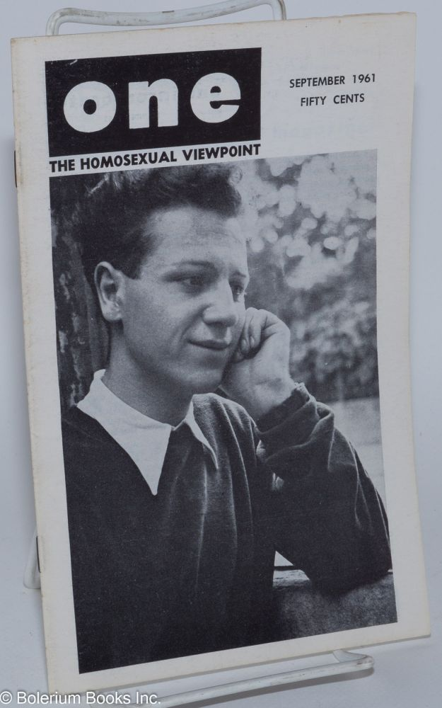 One magazine; the homosexual viewpoint; vol. 9, #9, September 1961. Don Slater, William Lambert, Robert Gregory, Marcel Martin, Harry Otis, Victor J. Banis.
