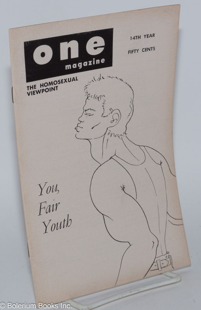 One magazine; the homosexual viewpoint; vol. 14, #2, February 1966. Richard Conger, , Boullet, cover James Edwin.