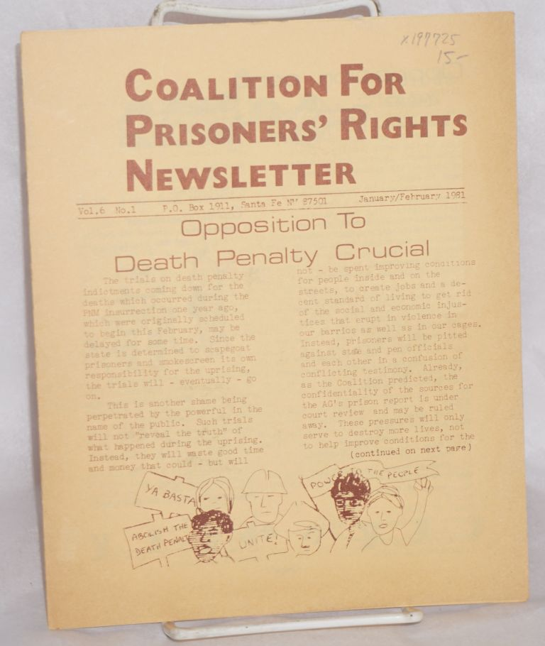 Coalition for Prisoners' rights newsletter: vol. 6 no. 1, January/February 1981