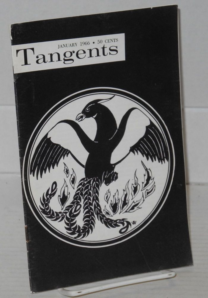 Tangents magazine vol. 1, #4, Jan. 1966. Don Slater, , Joseph Hansen, Gene Damon, James Colton, Joseph Hansen.