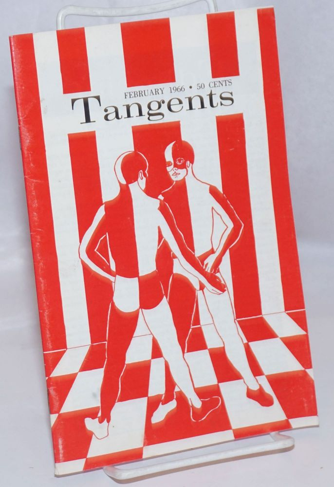 Tangents magazine vol. 1, #5, Feb. 1966. Don Slater, , Joseph Hansen, Gene Damon, James Colton, Joseph Hansen.