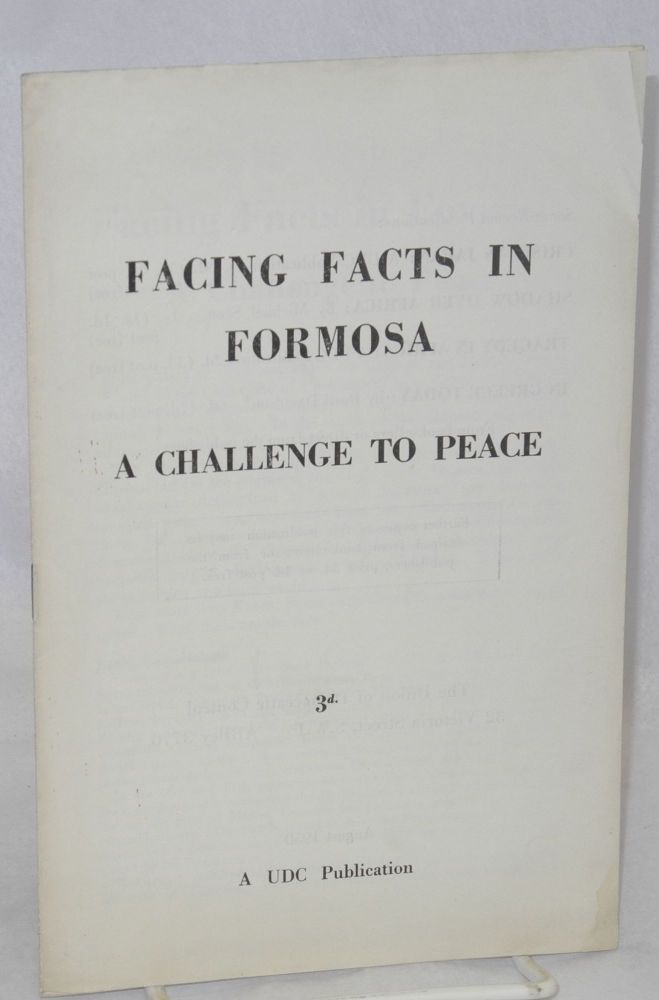 Facing facts in Formosa