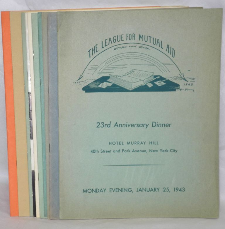 [Ten different programs for anniversary dinners]. League for Mutual Aid.