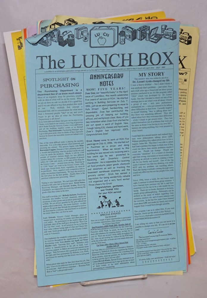 The LunchBox: newsletter of Project Open Hand [18 issue broken run]