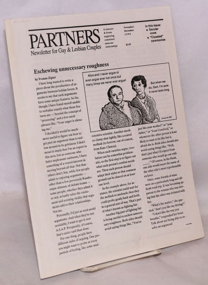 Partners: the newsletter for gay and lesbian couples; November/December 1990