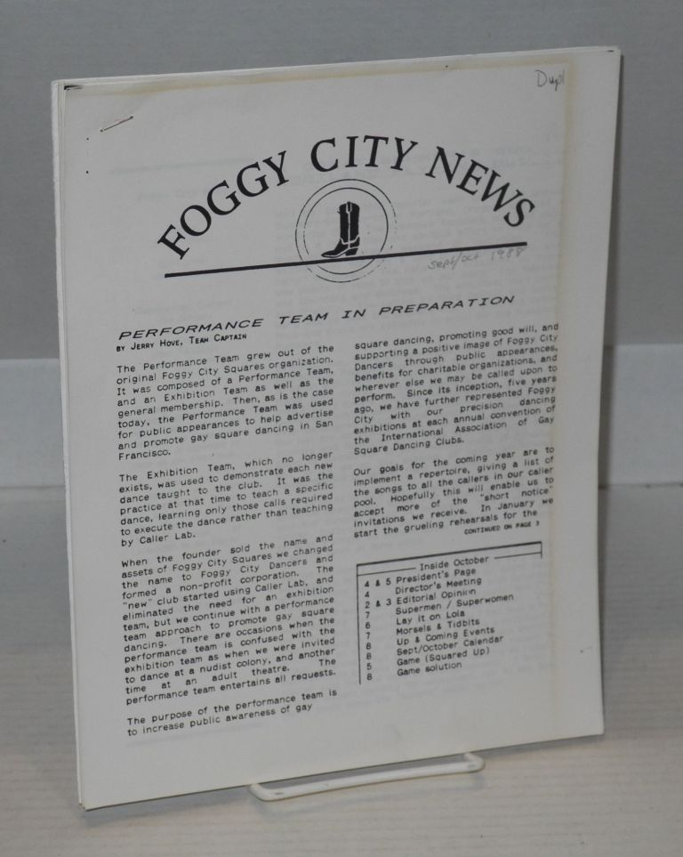 Foggy City news: September 1988 to July 1991 [five issue broken run]. Marc Randall, Mike Staples.