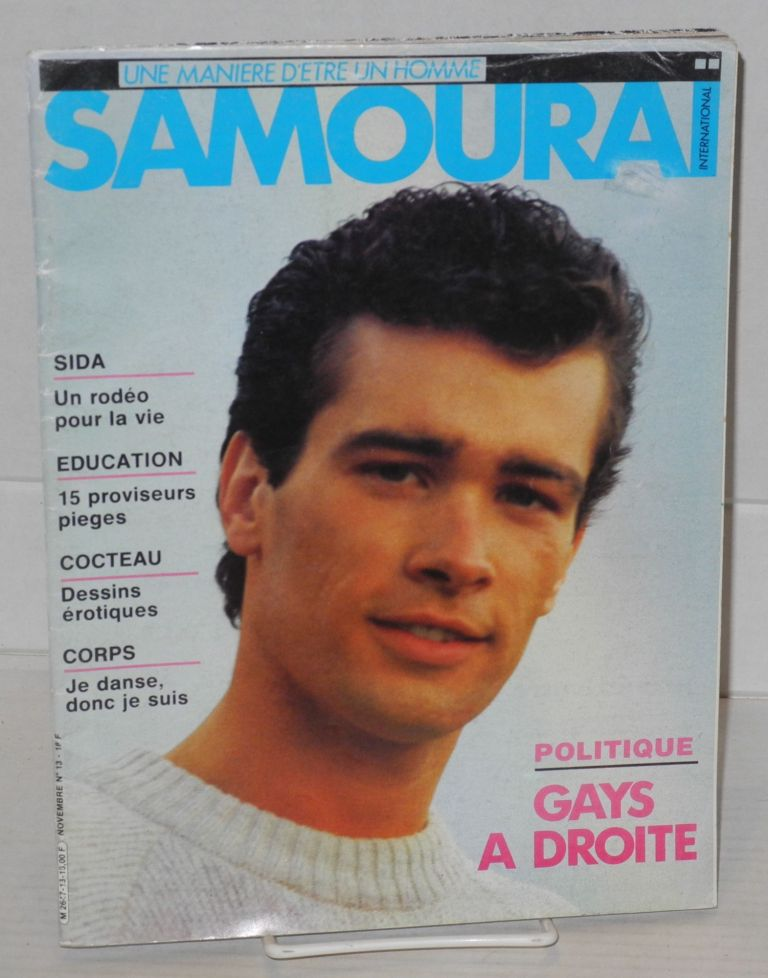 Samouraï international: une maniere d'etre un homme; no. 13, Novembre. Jackie Fougeray.