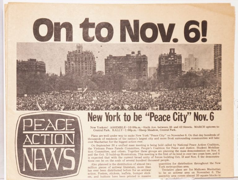 Peace Action News. No. 1 (October 13, 1971)